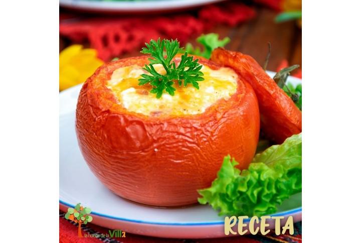 RECETA: tomates rellenos con huevo y queso